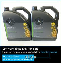 10L Genuine Mercedes Benz 10w40 Low Ash Engine Oil Sprinter Semi Synthetic