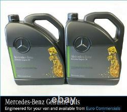 12L Genuine Mercedes Benz 10w40 Low Ash Engine Oil Sprinter 906 Low Saps