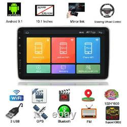 Android 9.1 Double Din 10.1 Car Stereo Radio GPS NAV Wifi Touch Screen WithCamera
