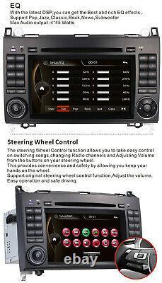 Car stereo DVD BT Radio Sat Nav Mercedes Benz W169 W245 Viano&Vito W639 Sprinter