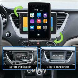 Double 2Din Rotatable 10.1in Android 9.1 Car FM Stereo Radio GPS WiFi MP5 Player