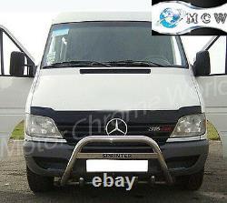 Fits To Mercedes-benz Sprinter Bull Bar Chrome Axle Nudge Logo Bar 2000-2006
