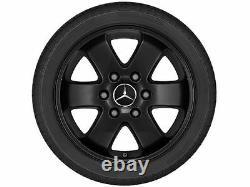 Genuine Mercedes Sprinter Black Alloy Wheel Set (4) 6 Spoke, Black, 16