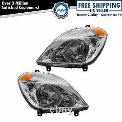 Headlight Headlamp Halogen LH & RH Pair Set for 10-13 Mercedes Benz Sprinter Van