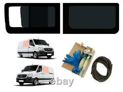 LH Opening RH Fixed Dark Tint Windows Adhesive Kit for Mercedes Sprinter (06-18)
