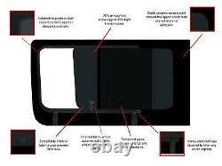 LH RH Dark Tint Opening Windows Glass Fitting Kit for Mercedes Sprinter (06-18)