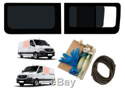 Left Fixed Right Side Opening Dark Tint Windows for Mercedes Sprinter (06-18)