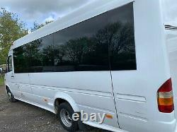 Mercedes Sprinter 17 Seat Extended Mini Bus / Coach With Boot, 2006 413 CDI