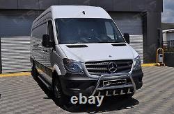Mercedes Sprinter Chrome Axle Nudge A-bar, Stainless Steel Bull Bar 2014-2018