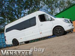 Mercedes Sprinter Lwb 06+ 76mm Side Bar Quality Stainless Steel Bars Steps Van