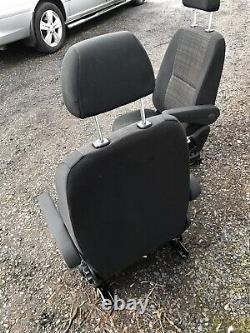 Mercedes Sprinter / VW Crafter Front Driver & Passenger Twin Armrest Seats 2017