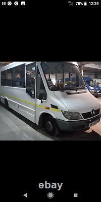 Mercedes sprinter Mellor 16 seater minibus camper van psv mot ex council
