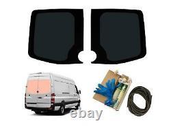 Rear Door Dark Tint Window Glass Adhesive Trim Kit for Mercedes Sprinter (06-18)