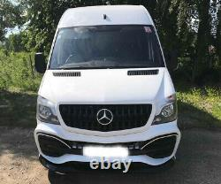 Sprinter W906 2013- Front Bumper AMG Style ABS Plastic Unpainted Mercedes Benz