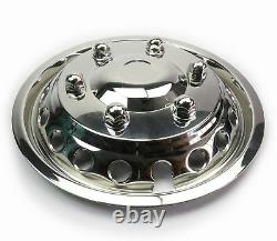 Stainless Twin Rear Wheel Trims for R 16 Tyres Mercedes Sprinter VW Crafter