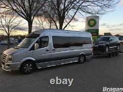 To Fit 2014 2018 Mercedes Sprinter MWB Steel Side Bars Steps Pads Tubes Skirts