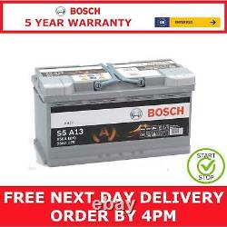 Type 019 Bosch S5A13 AGM Start Stop Car Battery 12V 95Ah with a 5 Year Warranty