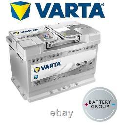 Varta E39 AGM Silver Stop Start Car Battery (570 901 076) (UK096 AGM) 12V 70Ah