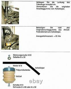 Zusatzluftfeder AirCell Mercedes Sprinter 208-416 Vorderachse, Goldschmitt