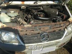 2005 Mercedes Sprinter 413 CDI Récupération Camion Voiture Transporter Pont En Aluminium