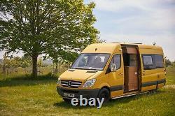 2007 Mercedes Sprinter Lwb Camping-car Van Overland Wc Douche 3 Ceintures Hors Réseau