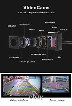 360°1080p Hd Voiture Dvr Bird View Panoramic System Sans Couture 4 Caméra Avec Capteur Decock