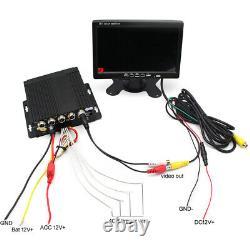 720p Ahd 4ch Car Truck Dvr Recorder With7'' Monitor 4 Pcs CCD Caméras De Nuit