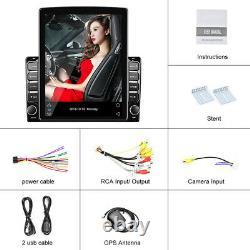9.7dans L'écran Vertical Voiture Bluetooth Stéréo Player Radio Gps Wifi 3g/4g Obd Dab