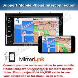 Double 2 Din Head Unit Car Stereo CD Player Touch Screen Mirror Link Pour Gps Nouveau