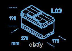 Ek700 Garantie De 3 Ans Exide Stop Start Agm Commerical Micro-hybrid Battery