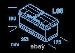 Ek950 Garantie 3 Ans Exide Start Stop Agm Batterie 95ah 850cca