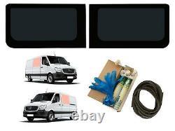 Lh Rh Foncé Teinte Fixe De Windows Adhesive Kit Pour Garniture Mercedes Sprinter (06-18)