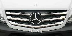 Mercedes Sprinter Front Grille Chrome Trim Strip Stainless 5pcs 2013 To 2018 Royaume-uni