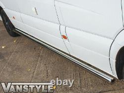 Mercedes Sprinter Lwb 06+ 76mm Side Bar Qualité Barres En Acier Inoxydable Van Steps