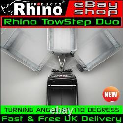 Mercedes Sprinter Towbar Van Step Arrière Remorquage Rhino Towstep Duo Noir 2006-2020
