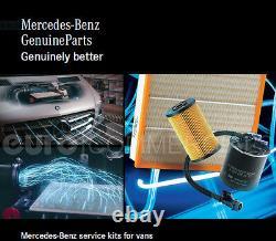 Nouveau Véritable Mercedes Sprinter W906 Om651 Kit De Service Avec Huile Moteur Mb228.51