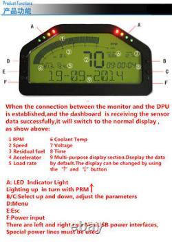 Obd2 Bluetooth Connexion Course Dash Affichage Du Tableau De Bord Numérique Écran LCD Gauge