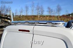 Pour Monter 14-18 Mercedes Sprinter Chrome Toit Arrière En Acier Inoxydable + Led Light Bar