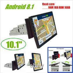Single Din 10.1 1080p Rotatable Quad-core Ram 1 Go Rom 16 Go Car Stereo Radio Gps