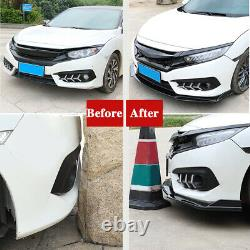 Universal Car Front Bumper Lip Spoiler Splitter +78.7 Side Skirts Extensions Royaume-uni