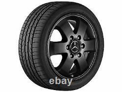 Véritable Mercedes Sprinter Black Alloy Wheel Set (4) 6 Spoke, Black, 16